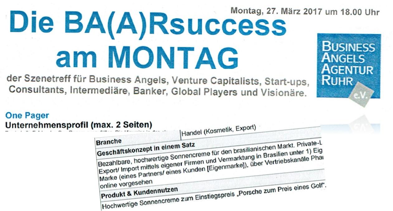 Sol Feliz als Konzept bei den Business Angels Ruhr
